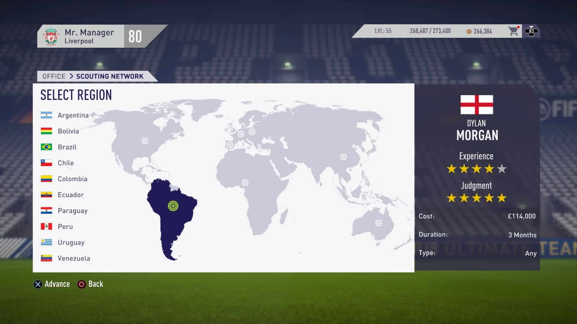 FIFA 18 Scouting Regions Scouting Network