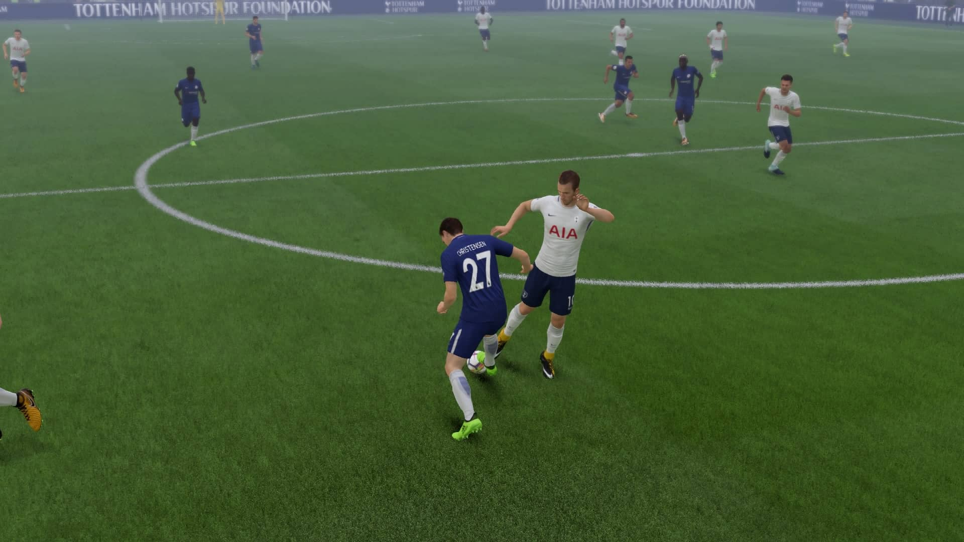 Andreas Christensen tackles Harry Kane