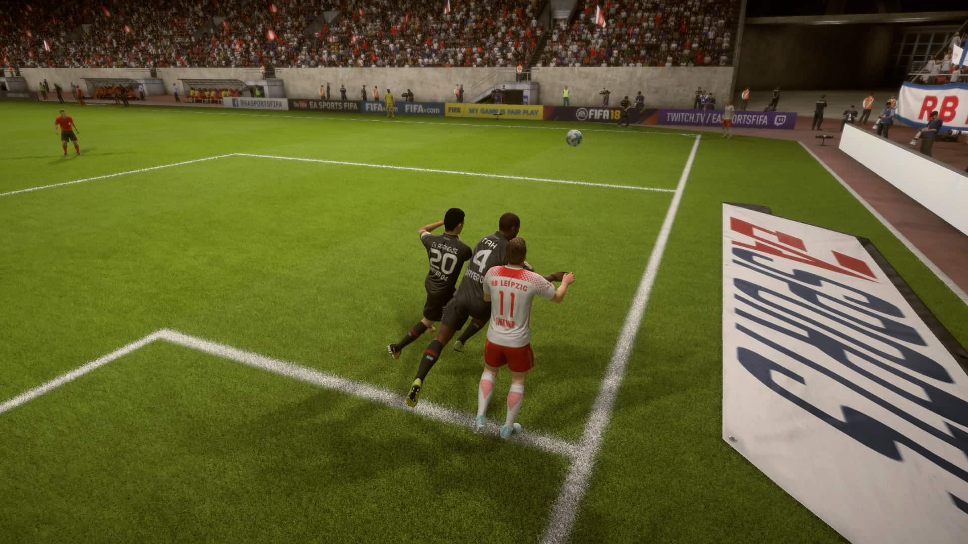 Jonathan Tah shows his strength in FIFA 18
