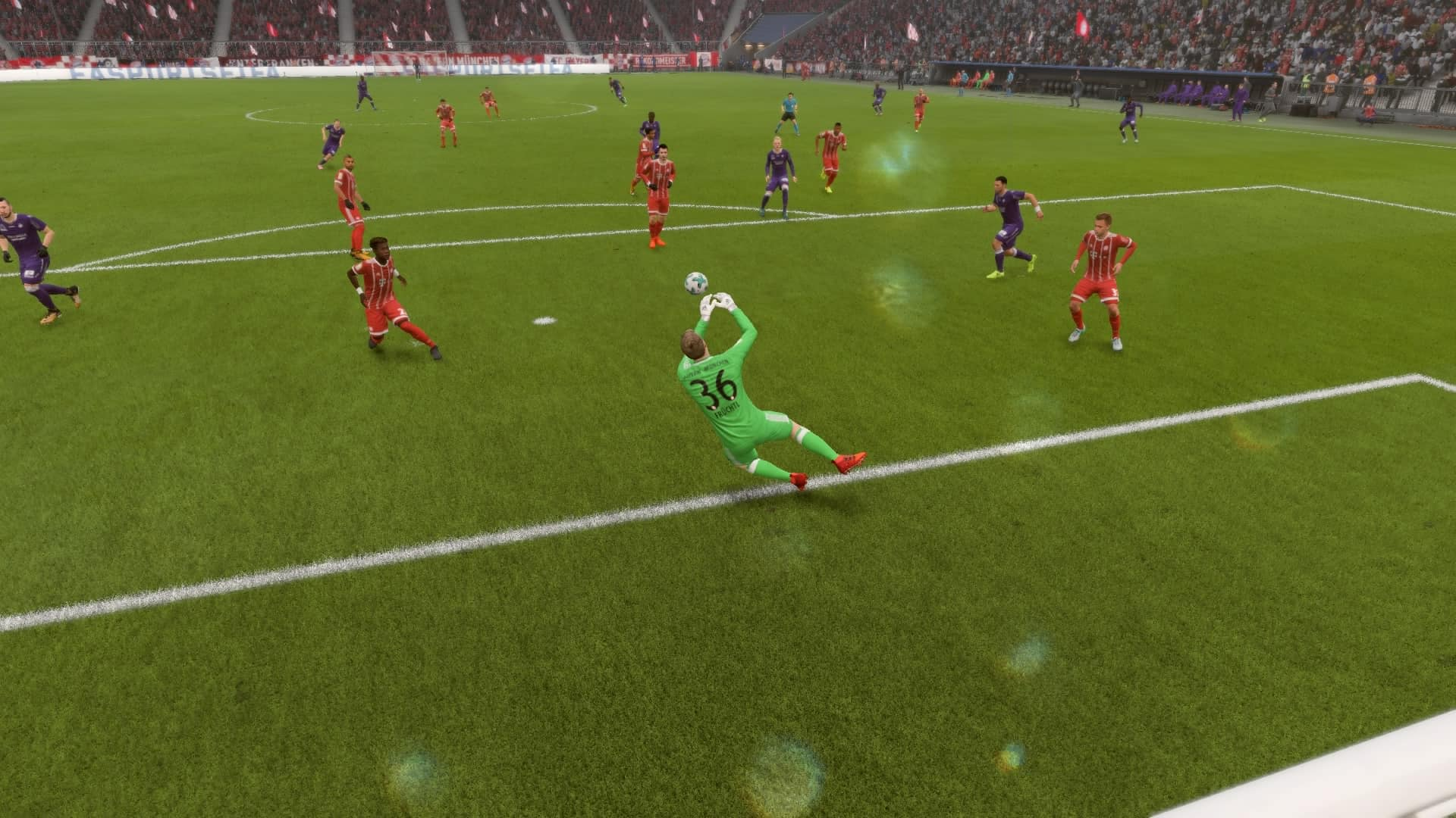 Christian Fruchtl makes a save in FIFA 18