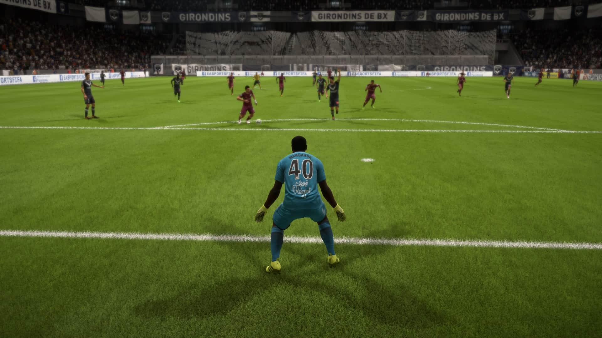 Over Mandanda prepares to make a save
