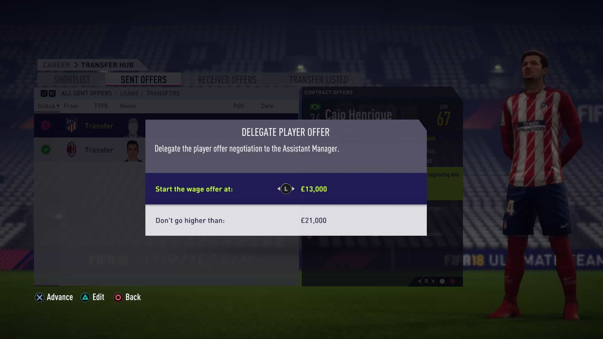 Delegate Contract Negotiations in FIFA 18