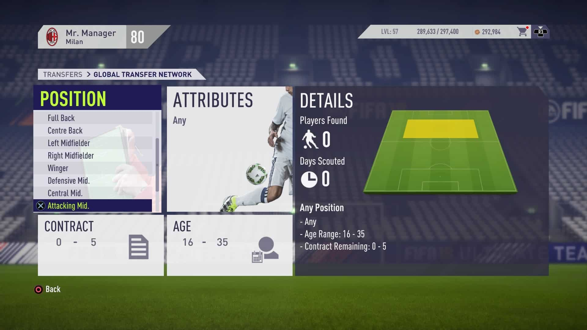 Scouting Position in FIFA 18