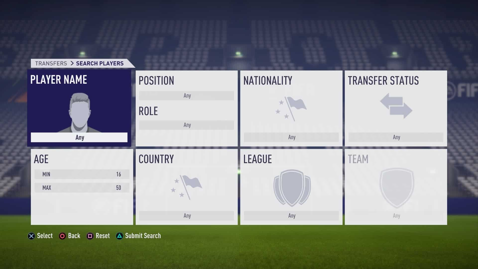 FIFA 18 Player Search