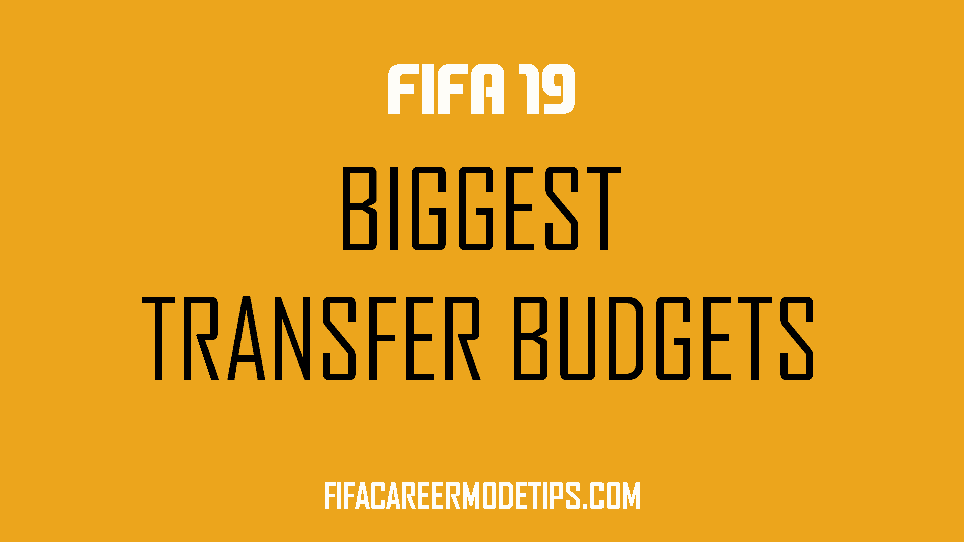 Biggest Starting Transfer Budgets in FIFA 19